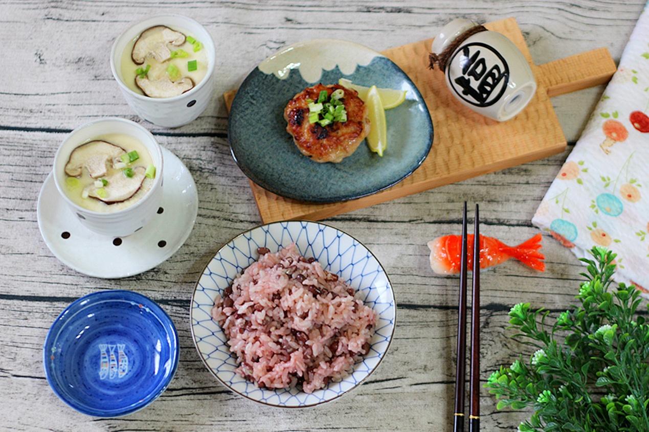 一鍋出一桌:紅豆飯+茶碗蒸+薑汁豬肉排